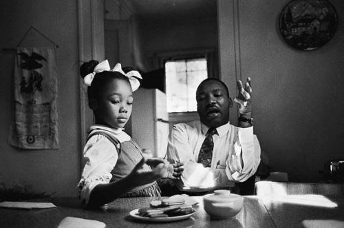 collective-history:  Dr. King & his daughter Yolanda, circa 1963. Dr. King said in an interview that this photo was taken as he was explaining why she could not go to Funtown, a whites-only amusement park in Atlanta