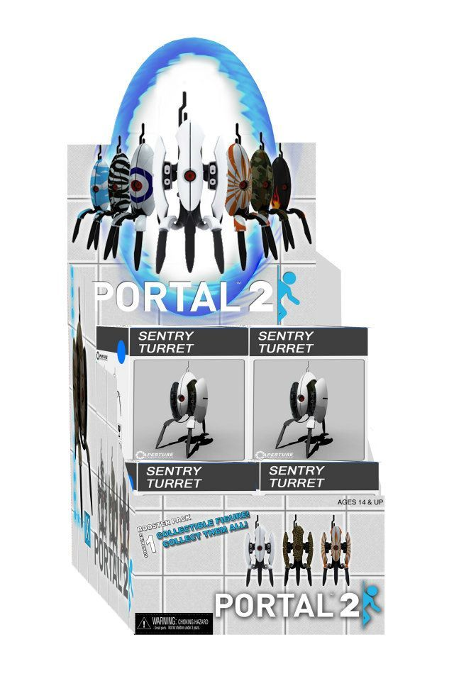 "whatthechell:   New ""Blind Box"" Sentry Turrets Coming from NECA and WizKids!  Starting in October, 3"" blind-boxed turret figures (with both ""open"" and ""closed"" variants) will be available for purchase. And while 9 of the 10 designs are already set, NECA/WizKids is letting the Portal fandom choose the final design! The choices are: Hawaiian Shirt turret, Lightening Turret, ""Mom Tattoo"" turret, and Wood Grain turret. Click here to submit your vote!"