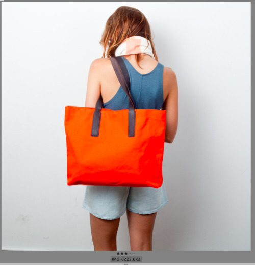 Ana and the Orange Tote.