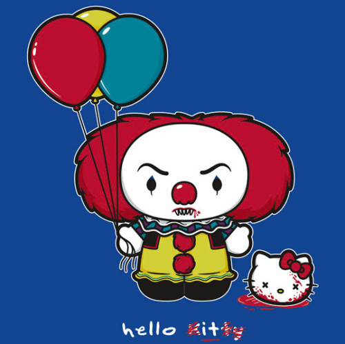 (via fashionablygeek.com: Hello Kitty Murdered By Stephen King's Imagination [T-Shirt])