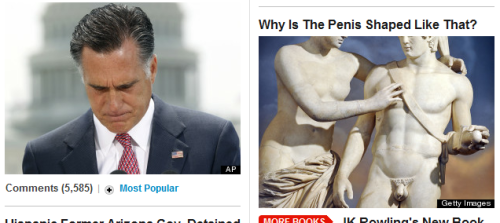 A fun game is to look down the double column of articles on Huffington Post and see if the images are better if you swap headlines.