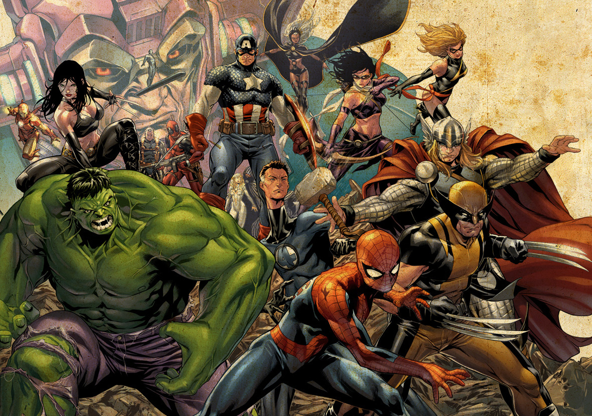 comicbookartwork:  Marvel Superheroes By Mark Brooks