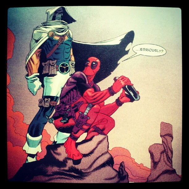 #srsly? #Deadpool #Taskmaster @DanielKWay @shawncrystal (Taken with Instagram)