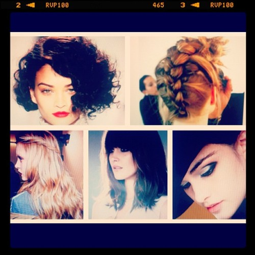 Glimpses of what's coming for fall beauty: Faux bob Braids Twists Bangs Mod smokey eyes