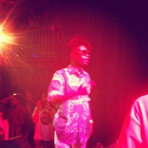 Danny brown touching stage!  (Taken with Instagram)