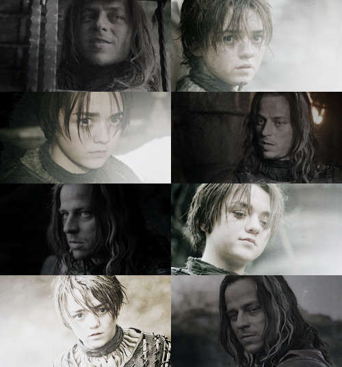 Arya + Jaqen (White & Black) ~ Faceless Men