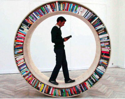M> PM Circular book library by David Garcia's Studio
