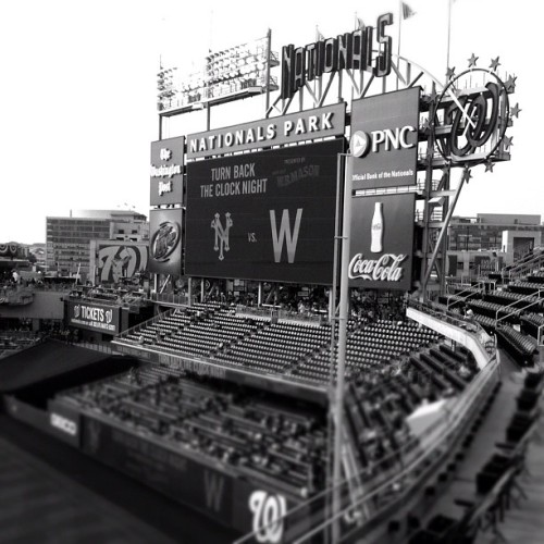 Turn back the clock @natspark (Taken with Instagram at Nationals Park)