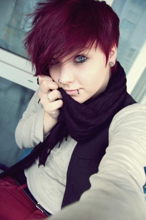 maroon hair on Tumblr