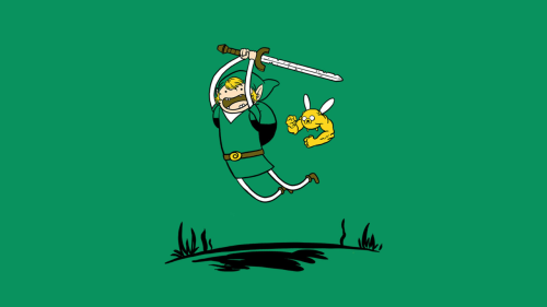 nsfw-stunts:  Adventure Time x The Legend of Zelda