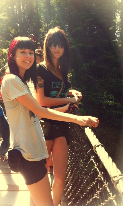 morgan & mikaela - lynn valley suspension bridge