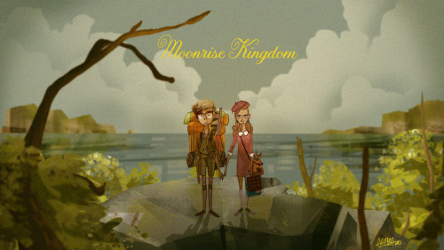 What kind of bird are you? Moonrise Kingdom illustrated by Gyimah Gariba :: via ggariba.blogspot.ca
