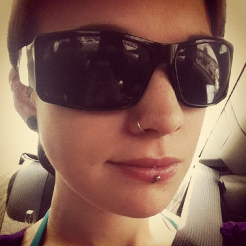 #sg #shades #salliss #stretch #sunglasses #selfportrait #suicidegirls #sallisssuicide #me #myself #nosering #piercing #gauge #freckles #vancouver  (Taken with Instagram)