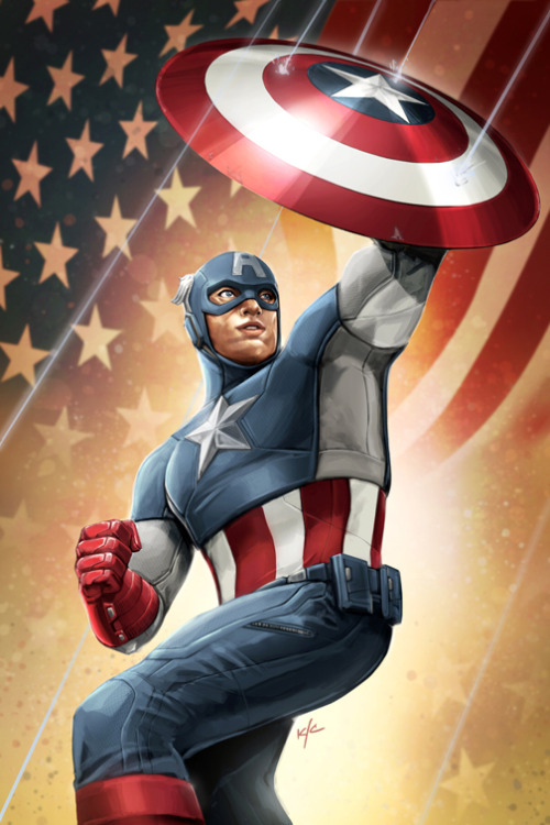 herochan:  Captain America  Created by Ken Christiansen (via:xombiedirge)