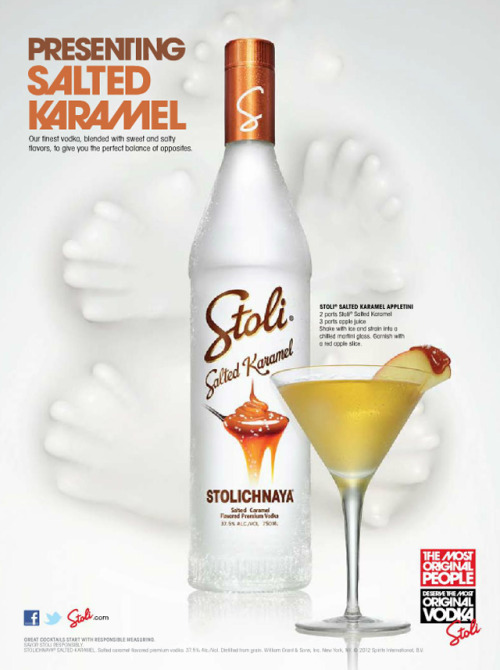 laughingsquid:  Stoli Salted Karamel Vodka  I NEED DIS