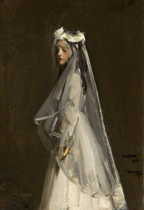 colourthysoul:  John Lavery - Eileen, Her First Communion