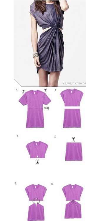 DIY: Tied-Up Tee-Dress