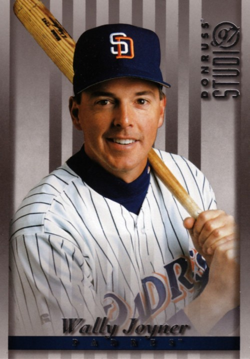 Random Baseball Card #1208: Wally Joyner, first baseman, San Diego Padres, 1997, Donruss.