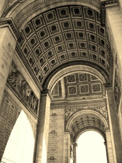 Arc de Triomphe. Paris, France. Photo by Amber Maitrejean