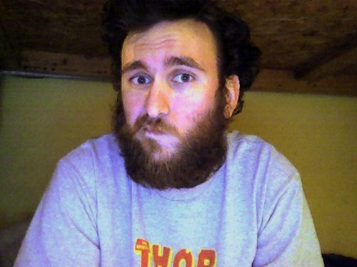 thedailybeard:  dinocube:  All this hair is really starting to get to me.  no… please no.