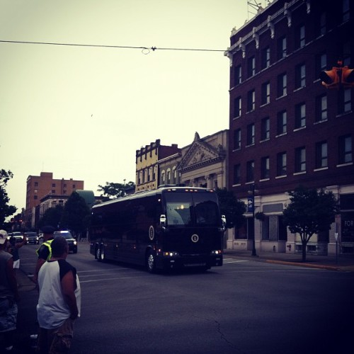 PRESIDENTIAL BUS SWAG. #motorcade #Obama #Ohio #Sandusky  (Taken with Instagram)