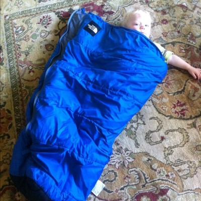 My 20 year old sleeping bag modified by friend @littlepackage for our coming bike tour. #biketour (Taken with Instagram)