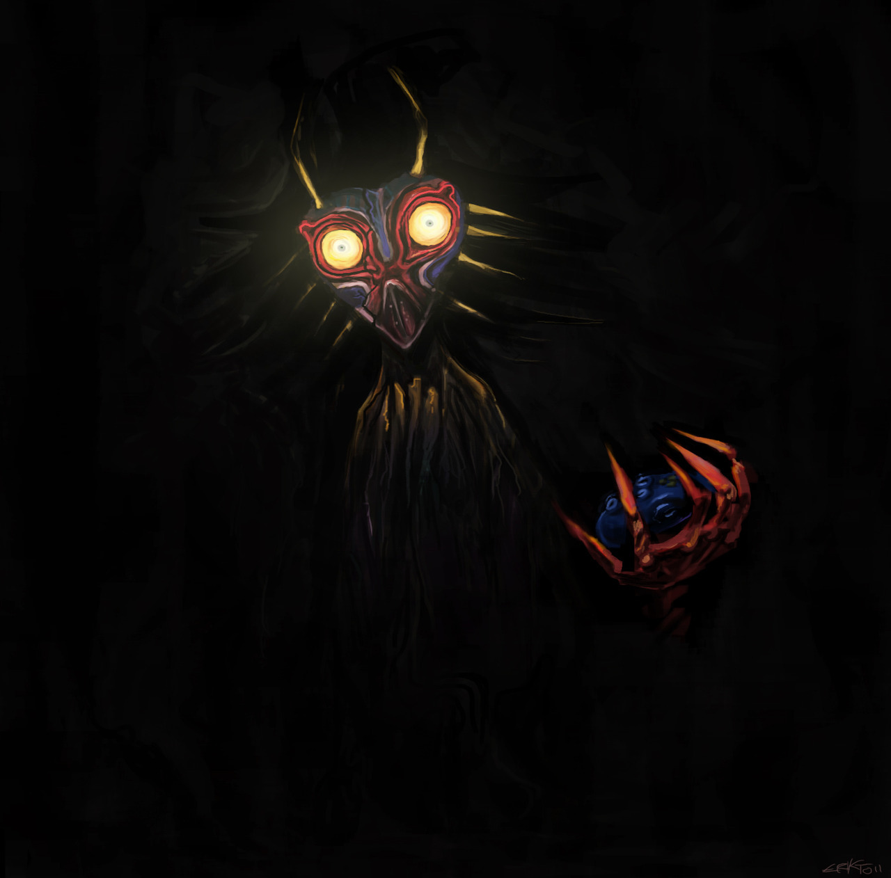 The most terrifying depiction of Skull Kid ever.