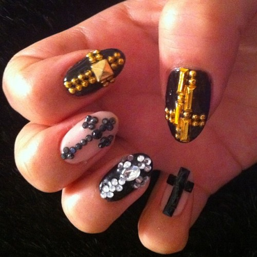 Cross #nail #nailart (Taken with Instagram)