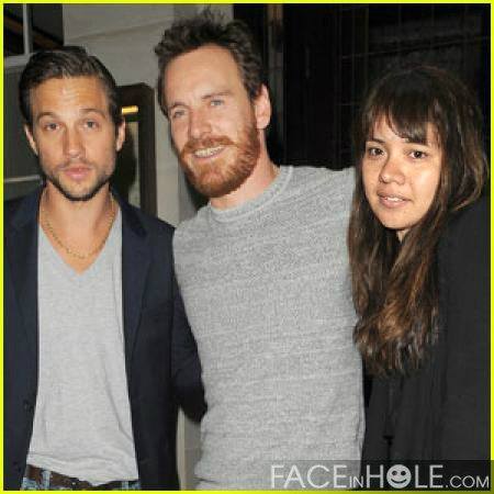 with Michael Fassbender and Logan Marshall-Green