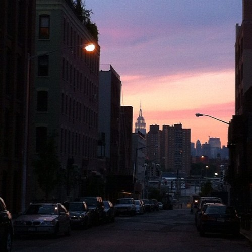 Peach evening in Dumbo. (Taken with Instagram)