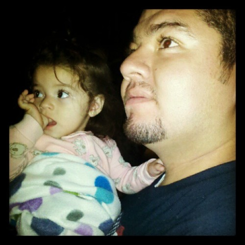 Elyssa & her Tío watching the fireworks (Taken with Instagram)