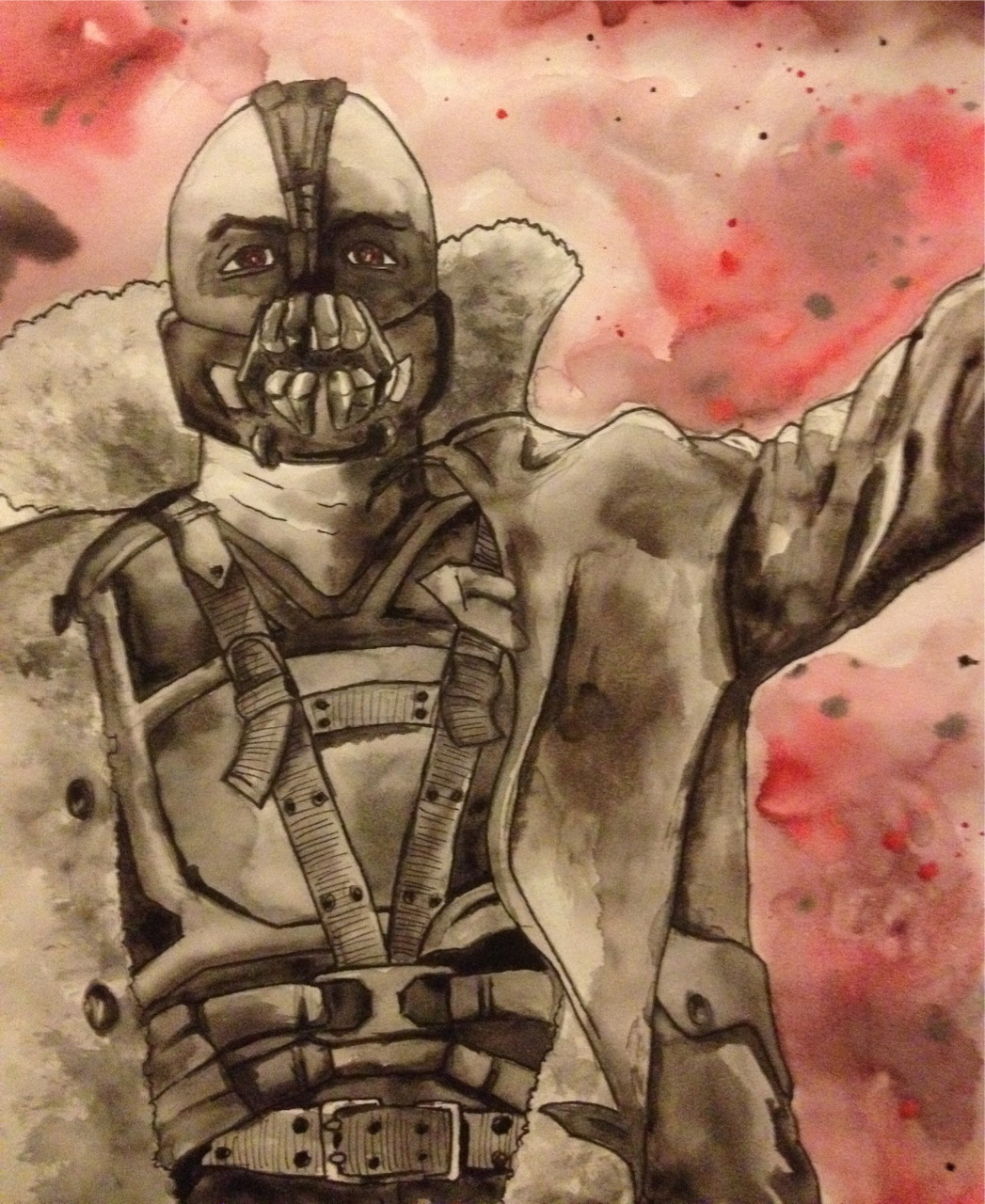 Drugstore challenge #3 Bane, sharpie and watercolor