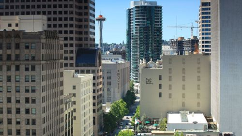 Room with a View. Fairmont Olympic Hotel, Seattle. Room 1061.
