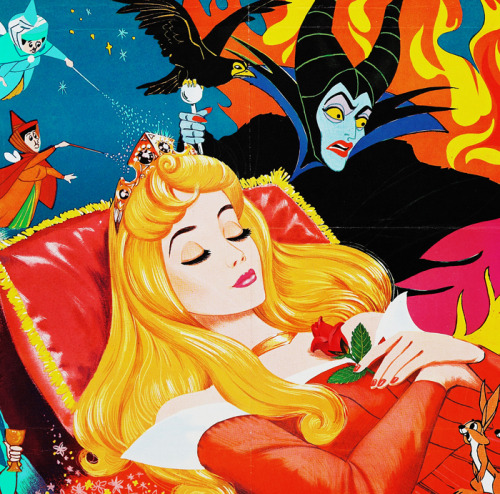 vintagegal:  1970's movie poster for Disney's Sleeping Beauty