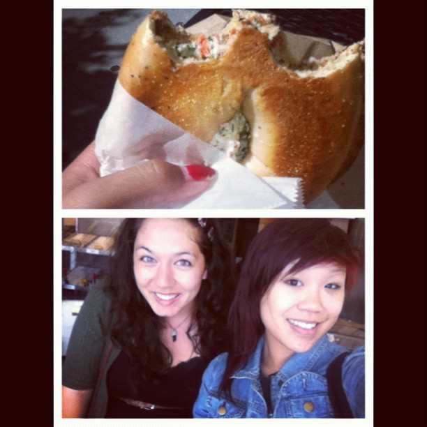 minniescarlet:  Me and @rachellesierra37 had an awesome bagel date today  (Taken with Instagram)  So glad I got to see Minnie today! :D