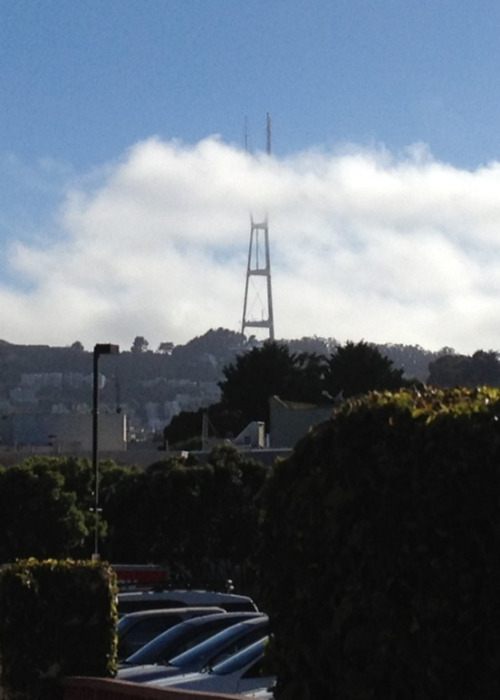 Foggy Sutro over Safeway