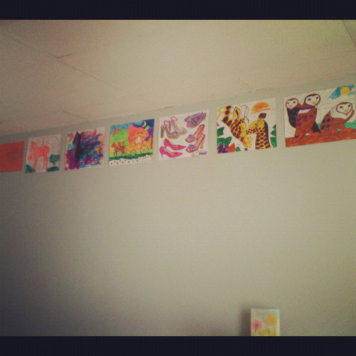 My beautiful wall art from my nieces and nephew. I love being an aunt!
