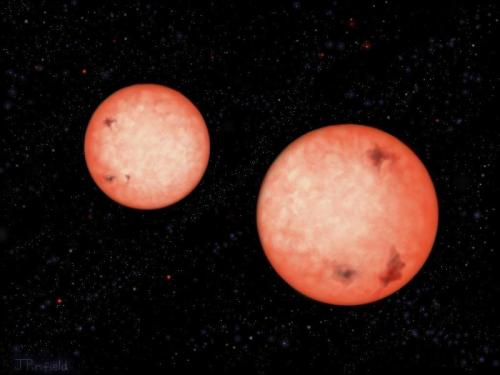 'Impossible' Binary Stars Discovered ScienceDaily (July 5, 2012) — A team of astronomers have used the United Kingdom Infrared Telescope (UKIRT) on Hawaii to discover four pairs of stars that orbit each other in less than 4 hours. Until now it was thought that such close-in binary stars could not exist. The new discoveries come from the telescope's Wide Field Camera (WFCAM) Transit Survey, and appear in the journal Monthly Notices of the Royal Astronomical Society.