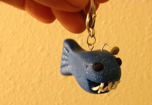 I made an anglerfish keychain! They're really fun to make so I put it up on my Etsy in case you want me to make you one :)