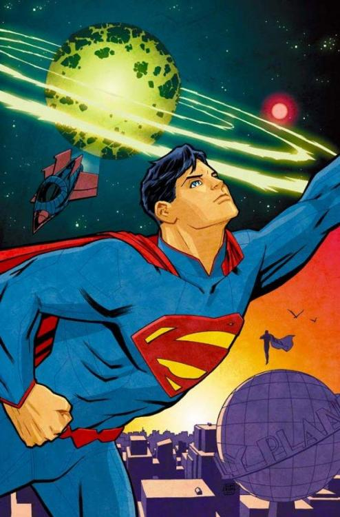 lordsinestro:  I dont read the current Action Comics, or any of the Superman family of comics since the New 52 (they're just not that good. The Bat family got it right though). But this is one pretty sick variant cover. I shall invest.  Samesies.