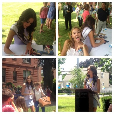 Miss USA 2012 Olivia Culpo signing autographs at Bay View Academy (via Photo by jamiekrause622 • Instagram)