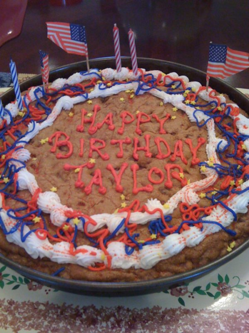 My early birthday cookie cake!