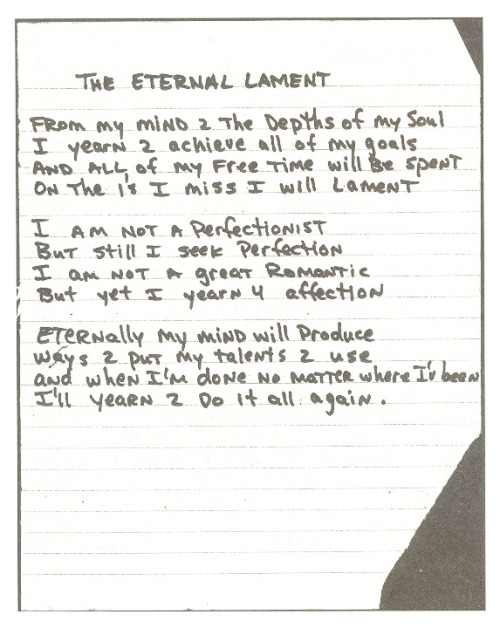 The Eternal Lament by Tupac Shakur