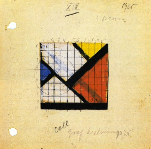 chancr:  Study for Counter Composition XIV, Theo van Doesburg, 1925.
