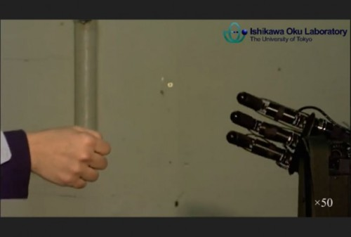 "Robots 1. Humans O. We can't even beat robot at rock, paper, scissors anymore. Researchers at a Japanese university have created a robot that can out-play you using a high-speed camera to determine your move. (By the way, I think a lot of sentences about killer robots starts with, ""Researchers at a Japanese…"")"