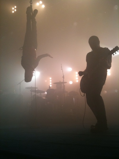 Nine Inch Nails with Peter Murphy from Bauhaus - who's hanging upside down I MISS OLD LONG HAIR GOOD TRENT =(