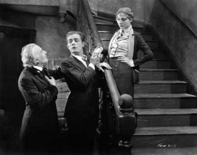 Nancy Nash, Earle Foxe, Grant Withers in Upstream, directed by John Ford c.1927