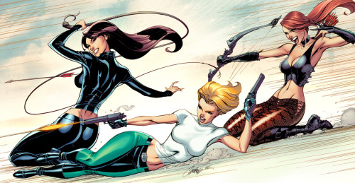 Danger Girl: Revolver // artwork by J.Scott Campbell and John Rauch (2011)