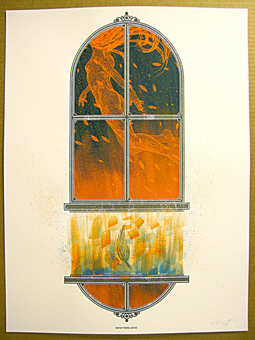 rghayati:  The Window (dark version), Art print version of a poster for Baths, by Kevin Tong.