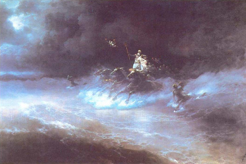 cavetocanvas:  Ivan Aivazovsky, Travel of Poseidon by Sea, 1894